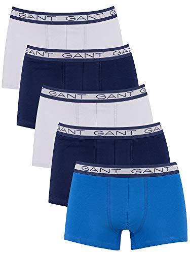 GANT Herren 5-Pack Trunk Seasonal Solids Boxershorts, Light Blue, XXL