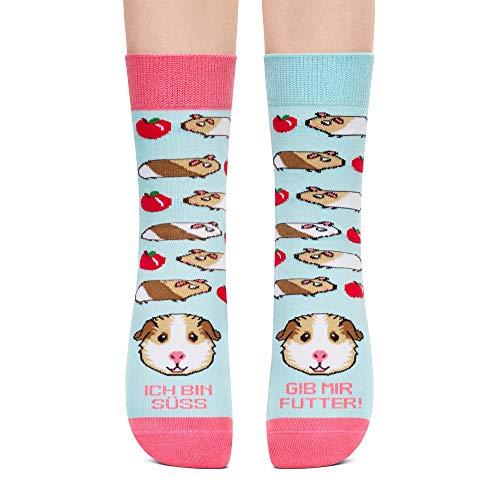 Petsy Lustige Socken für Damen und Herren 35-38 - Baumwolle Bunt Motivsocken mit Spruch - Perfekt Verrückte Geschenke - Ich Bin Süss