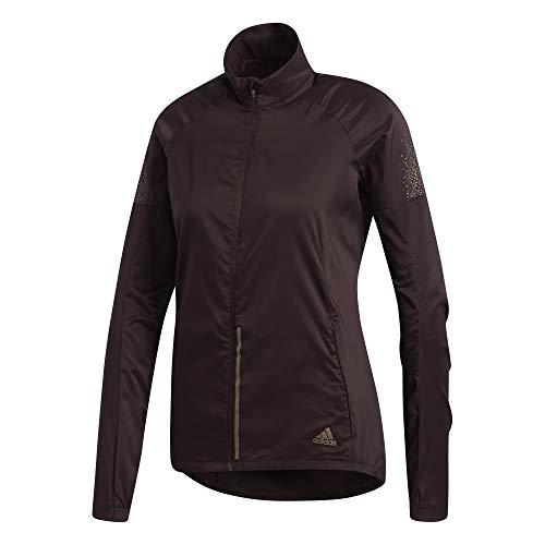 adidas Damen Supernova Jacket Laufbekleidung Laufjacke Braun - Dunkelrot M