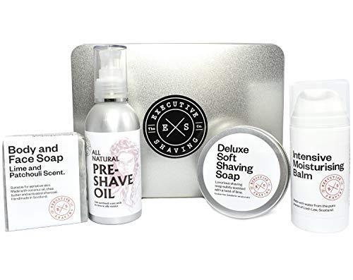 Executive Shaving Doux Savon Cadeau de Noël Conserve