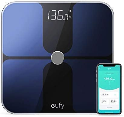 Eufy T9140011 Smart Fitness Scale Premium Design Black 30Cm X 30Cm Tiles