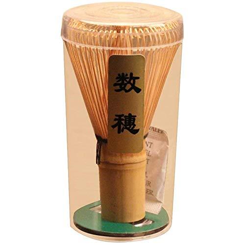 POFET Bamboo Chasen Matcha - Frusta in polvere per tè giapponese, accessorio per cerimonia, 60-70 rebbi