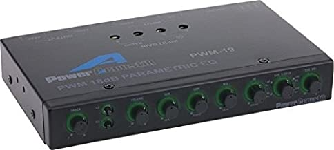 Power Acoustik PWM-19 Pre Amp Equalizer with Subwoofer Gain Control and Four Way Fader,..