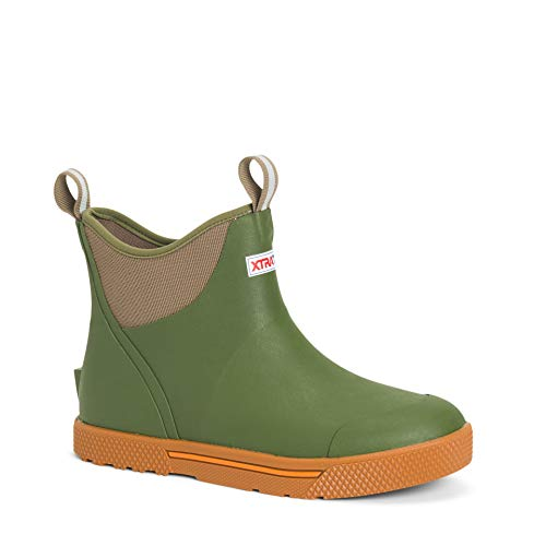Xtratuf Men's Wheelhouse Ankle Deck Boot Green 8