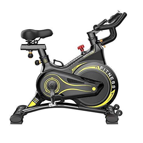 N\A Spinning Profesional de Bicicletas Ultra silencioso Interior Bicicletas aeróbico Entrenamiento Deportivo Manillar Ajustable y Asiento, Volante Grande bidireccional, transmisión por Correa