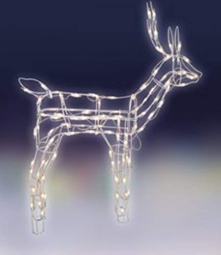 MerryMoments 30 Tall inch Standing Lighted Deer Outdoor Christmas Yard Art Decoration