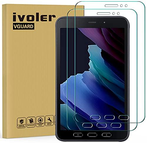 ivoler 2 Stücke Panzerglas Schutzfolie für Samsung Galaxy Tab Active 3 8.0 Zoll, 9H Festigkeit Panzerglasfolie, Anti-Kratzen Folie, Anti-Bläschen Bildschirmschutzfolie, Hülle fre&lich
