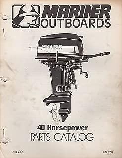 1978 MARINER OUTBOARD 40 HP PARTS MANUAL M-90-83736 (389