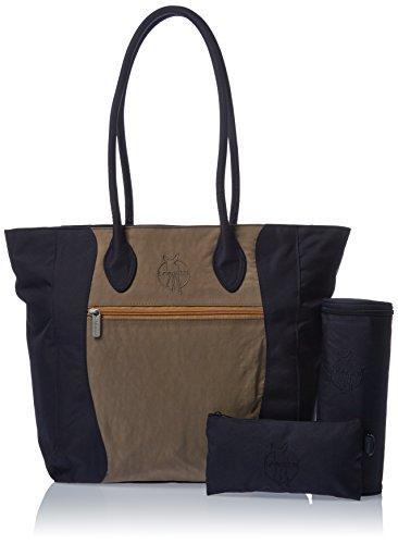 LÄSSIG Baby Wickeltasche Babytasche Kliniktasche Stylische Windel Tasche inkl. Wickelzubehör/Casual Tote Bag, navy