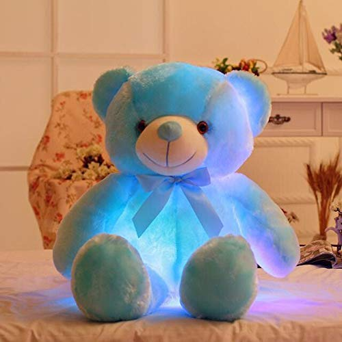 Best Quality - Stuffed & Plush Animals . - creative light up led teddy bear stuffed animals plush toy colorful glowing teddy bear birthday christmas gift for kids children - by Stephanie - 1 PCs