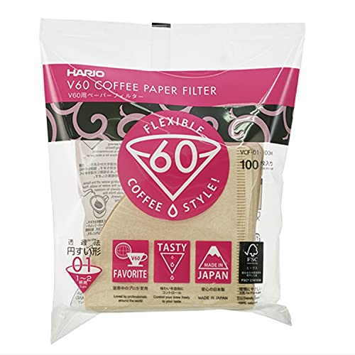 Hario VCF01100M Filtros de café Desechables, Tissu, Misarashi