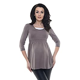 Purpless Maternity A Line Top Tunic Pregnancy Shirt Blouse for Expectant Pregnant Women D5200
