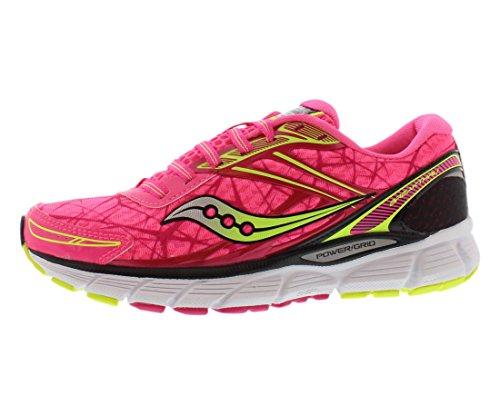 Saucony Women's Breakthru Running Shoe,Pink/Citron,9 M US