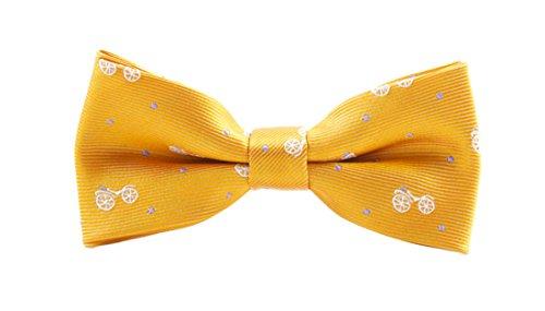 YueLian Kinder Baby Nettes Tiere Fliege Schlips für Anzug Schleife Krawatte Kinderfliege(Gelb)