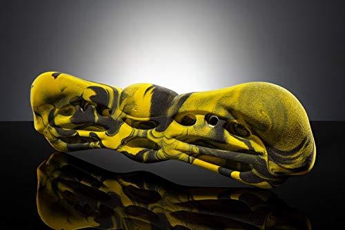 Makak Trainingsboard Butterfly 53cmx14,5cmx7cm Klettergriff gelb-schwarz