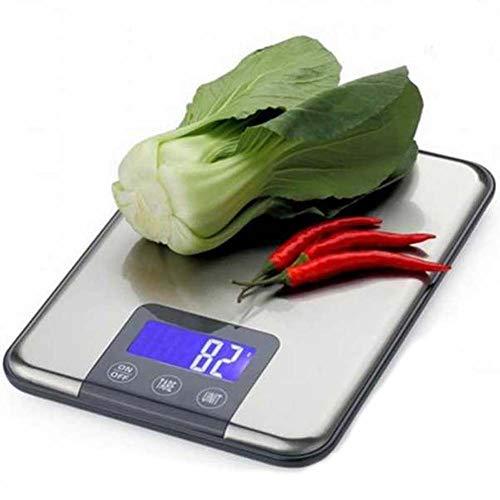 RSGK Báscula de Cocina Digital para Alimentos Báscula de Cocina de Alta precisión, báscula electrónica con Pantalla LCD, Peso de Tara y función PCS, 5KG, 10KG (Size : 10KG/1G)