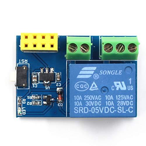 zhouweiwei AY94ESP8266 ESP-01S 5V Módulo de relé WiFi Interruptor Remoto Aplicación de teléfono Kit de diseño de Proyecto Socket Inteligente para Arduino
