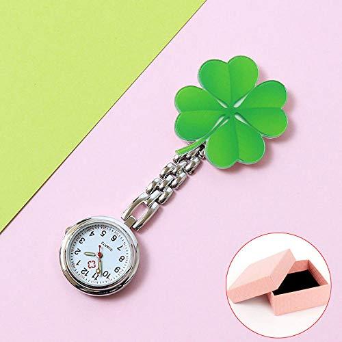 B/H Broche De La Enfermera Reloj,Reloj de Enfermera Luminosa de Dibujos Animados Simple,Lindo Doctor con Reloj de Bolsillo-A5,Prendedor de Broche Reloj de Bolsillo