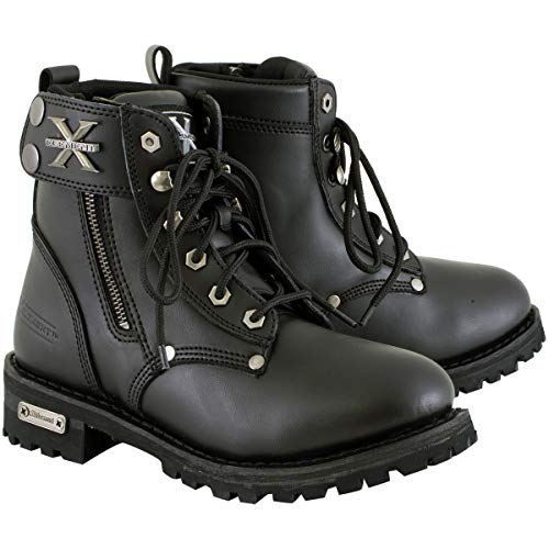 Xelement 2505 'Righteous' Women's Black Zipper Motorcycle Boots - 9.5