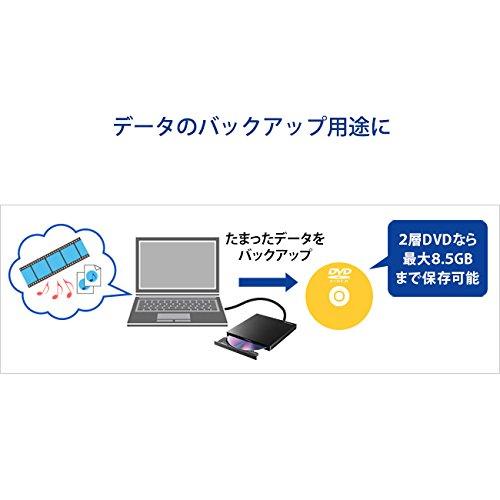 『I-O DATA DVDドライブ mac 外付け ポータブル USB3.0/バスパワー対応 Panasonic製スリムドライブ EX-DVD03W』の6枚目の画像