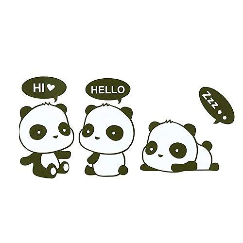 Vektenxi Cartoon Panda Schalter Aufkleber Abziehbild Wanddekoration Kreativ und nützlich
