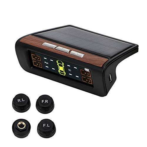 Tpms Temperatura del sensor de presión de los neumáticos del coche ADVERTENCIA DE ADVERTENCIA DE ADVERTENCIA DE COMBUSTIBLE SISTEMA DE MONITOR DE PRESIÓN DE LIBERTOS DE AUTRO CON 4 SENSOR EXTERNO SOLA
