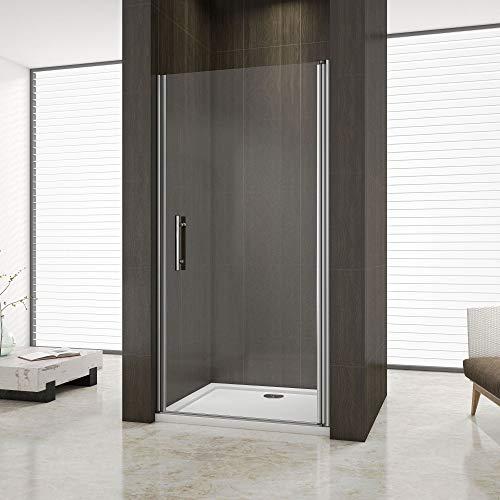 Aica 70x195cm box doccia nicchia cabina doccia apertura battente cristallo temperato trasparente anticalcare