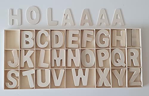 db9. Letras Madera Juego Escritura Carteles Mensajes. Caja 104 Piezas