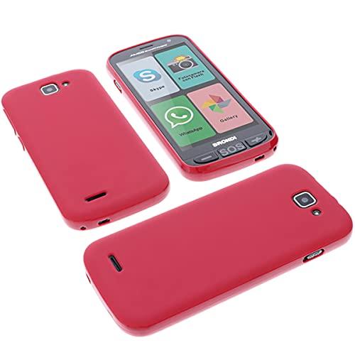foto-kontor Custodia per cellulari Brondi Amico Smartphone + in Gomma TPU di Colore Rosso
