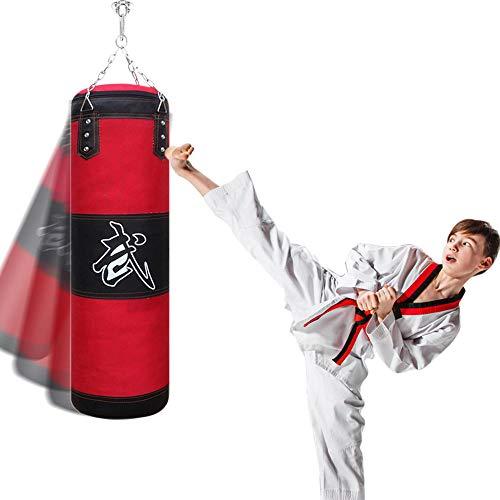 Boxsack für Kinder und Jugendliche Punchingsäcke Ungefüllte Hängende Boxsack, JanTeelGO Kampfsport Boxing Punching Bag, Sandsack für MMA | Kickboxen | Muay Thai | BJJ | Karate