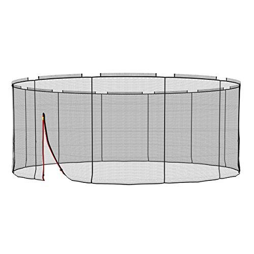 Ampel 24 Deluxe Sicherheitsnetz für Trampolin Ø 490 cm, Ersatznetz für 12 Stangen, Netz außenliegend, Ersatzteil reißfest und UV-beständig