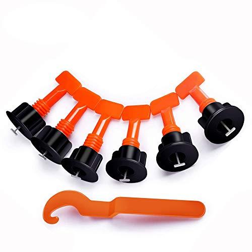 Sistema de nivelación de baldosas, 100 piezas Espaciadores niveladores de baldosas Sistema de equilibrio Pisos Pared reutilizable Clip