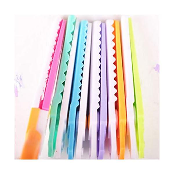 6 pulgadas intercambiables tijeras de plástico de seguridad para niños de encaje para estudiantes creativos maestros Papel – Tijeras, Tijeras 1 juego de encaje borde de la onda