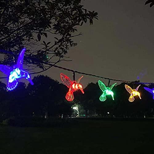 Gazaar Solar String Lights,30 LED Solar Powered Hummingbird Bird String Lights Waterproof Garden Fairy Garland Decorative Lights for Yard Home Wedding Party