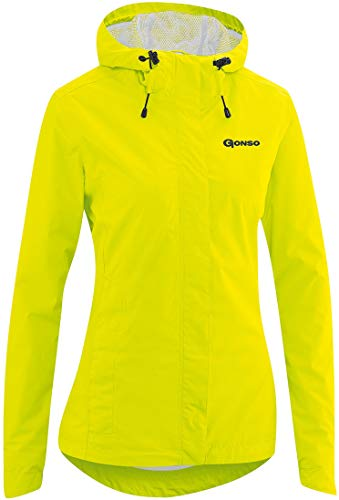 Gonso Sura Light Regenjacke Damen Safety Yellow Größe EU 38 2020 wasserdichte Jacke