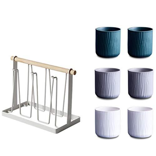 Bodum Kaffee- Teegläser Wasserbecher Haushaltsset Mit Getränkehalter Wohnzimmer Kreativ Einfach Nordic Teeset 6er Pack Haushaltsset (Color : G, Size : XL)
