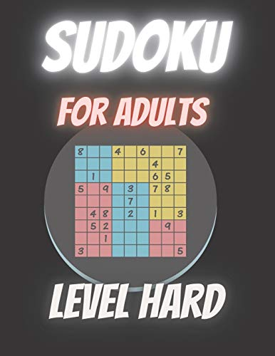 SUDOKU for Adults LEVEL HARD: Super Puzzle Book Fun Skills Gift