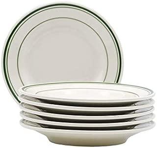 Tuxton Home THTGB007-6B Green Bay Salad Plate, 7-Inch, Stripe