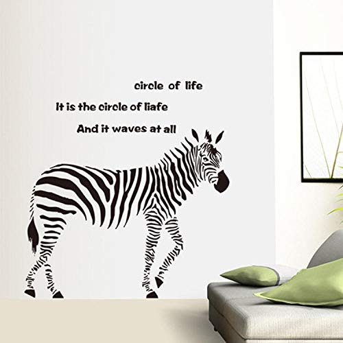 ZJXSNEH Dreidimensionale Entfernbare Zebra Wandaufkleber Sofa TV Kinderzimmer Hintergrund Wandbild 60X90CM
