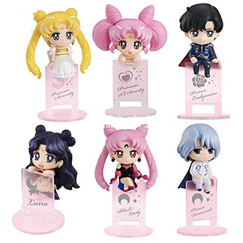 Figura De Acción De Sailor Moon Minako Aino Kino Makoto Kino Makoto Hino Rei Mizuno Ami Figura De Acción Modelo Muñecas Juguetes Regalos para Niños