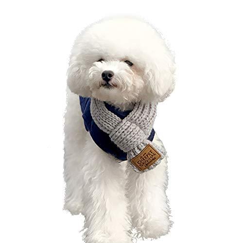 Bufanda para Perros, Kalvonfu Collares Pañuelo de Cuello para Perros, Accesorios para Disfraces de Mascotas Bufanda de Punto Termal navideña para Cachorros pequeños