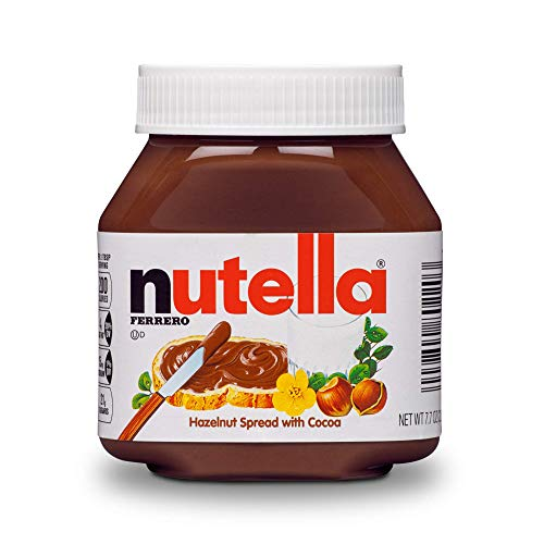 Nutella Chocolate Hazelnut Spread, Perfect Christmas Stocking Stuffer and Topping for Holiday Treats, 7.7 Ounce (Pack of 12)