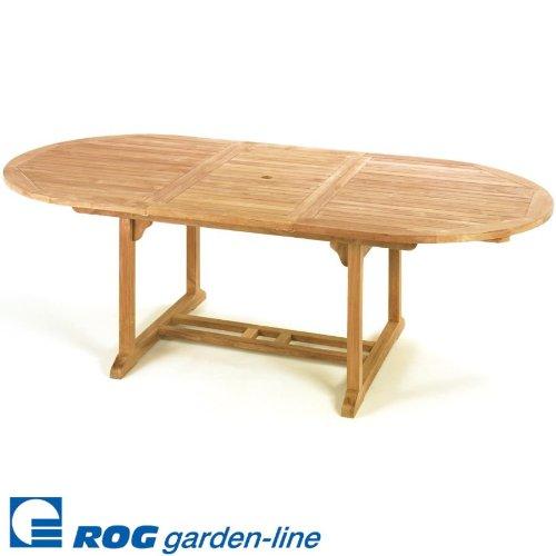ROG garden-line TL8104: Teak Tisch Alexandria OVAL 180 cm, AUSZIEHBAR AUF 240 cm