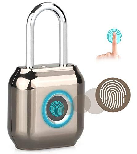 Vingerafdrukslot Smart Keyless Vingerafdruk hangslot USB Oplaadbaar slot voor kluisje, rugzak, bagage, koffer BRON