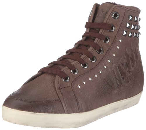 JETTE Fraktur Sneaker Booty 63/12/18589, Damen, Sneaker, Braun (darkbrown 860), EU 41 (UK 7.5) (US 7.5)