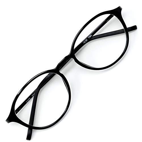アイウェアエア 老眼鏡 おしゃれ レディース メンズ ブルーライトカット 35% +0.5〜+3.5 4色 ボストン ピアノブラック +2.50