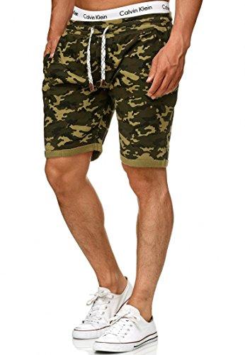 Indicode Heren Aldrich sweatshort met fleece voering en koord | Kort Broek Shorts Sportbroek zomerbroek joggingbroek Sweat Pants joggingshort trainingsshort Voor Mannen