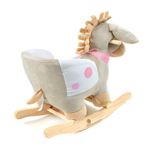 Pink Papaya Schaukeltier – Esel Pepe – Kinder und Baby Schaukelpferd, spezieller Schaukelstuhl für Kinder, mit Sound, Kopfhöhe ca. 50 cm, Sitzhöhe ca. 30 cm - 5
