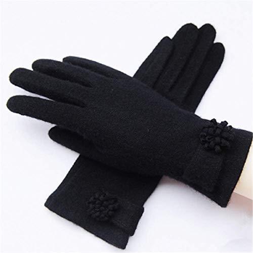 MZZH Warme Winterhandschuhe, Dicke Herbst- Und Warme Winterhandschuhe Für Damen, Touchscreen-Handschuhe Aus Wollplüsch