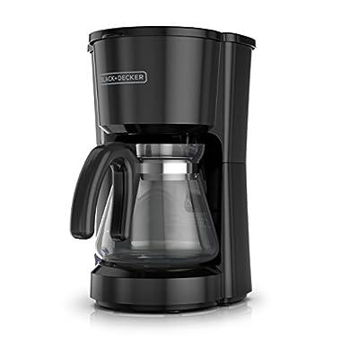 BLACK+DECKER 5-Cup Coffeemaker, Black, CM0700BZ